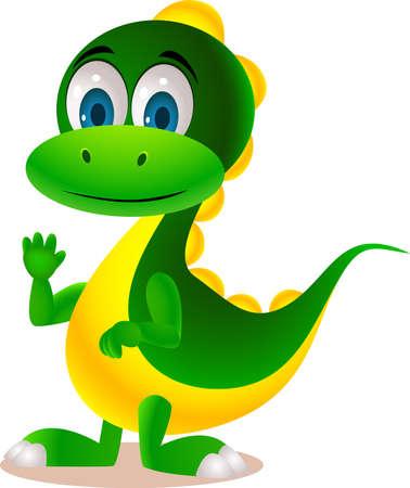 cute dinosaur: dibujos animados lindo dinosaurio Vectores