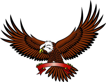 spreading: Eagle with emblem