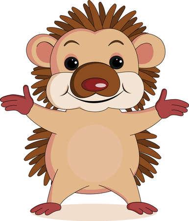 hedgehog: hedgehog cartoon Illustration