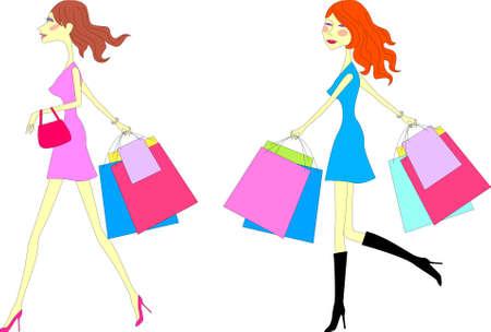 gift basket: Girl shopping