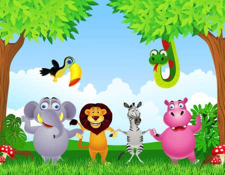 toekan: dier cartoon Stock Illustratie