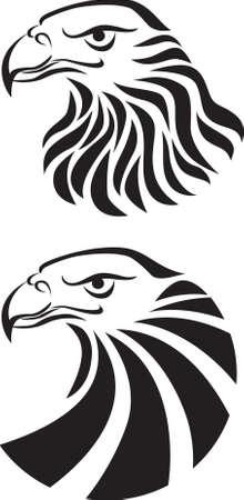 tribal wings: Eagle head