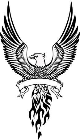 phoenix and emblem Stock Vector - 9930150