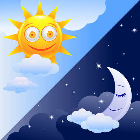 Day and night Stock Vector - 9930216