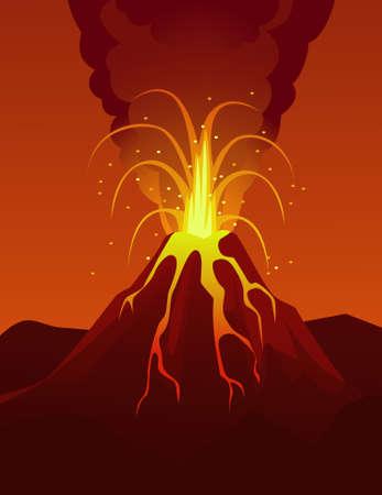 Volcano eruption Stock Vector - 9930214
