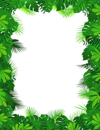 tropical border: Forest frame background Illustration