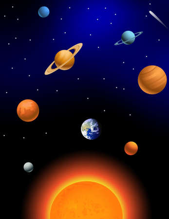 espaço: Sistema solar