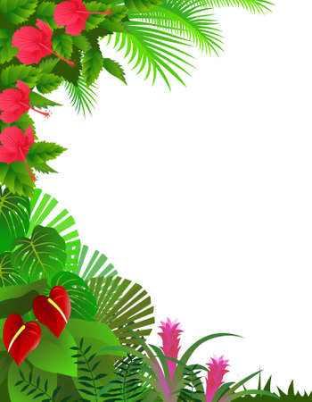 Tropical forest background Stock Vector - 9930218