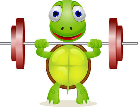 exertion: Animal lifting heavy weight Illustration