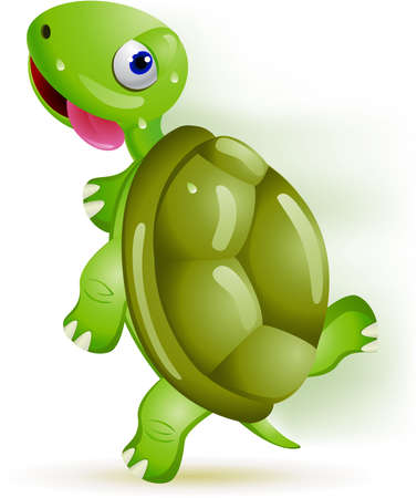 Turtle running Vector
