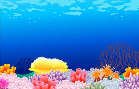 aqu�rio: fundo a vida do mar Ilustra��o