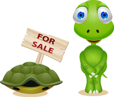 Turtle sell his house Stock Vector - 10057290