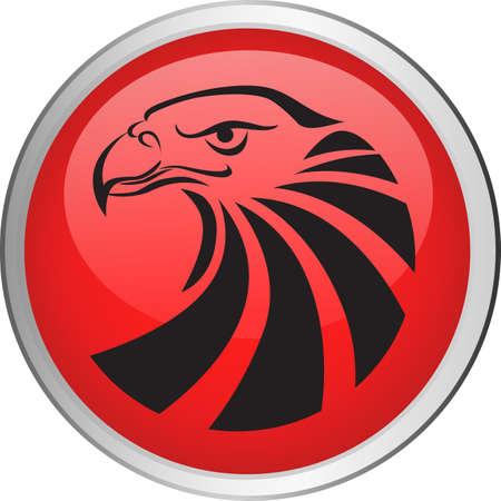 halcón: Botón de águila Vectores