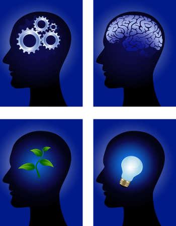 Human mind Stock Vector - 10057295