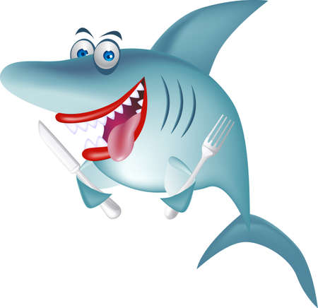Hungry shark Vector