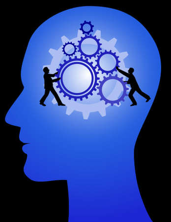 human mind, team work Vector