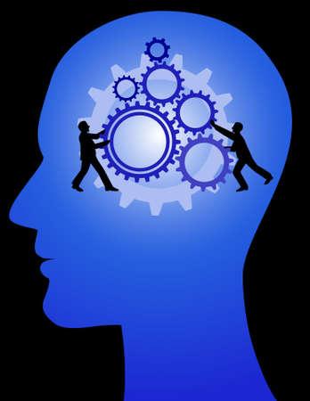 dirección empresarial: mente humana, trabajo en equipo