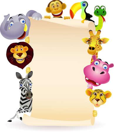zwierzę: zwierzÄ…t i pusty znak Ilustracja
