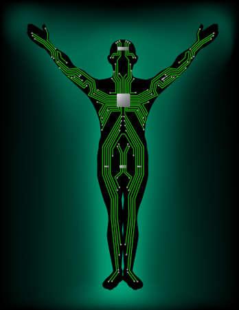 Human electronic circuit Vector