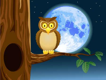 Owl cartoon Stock Vector - 12152517
