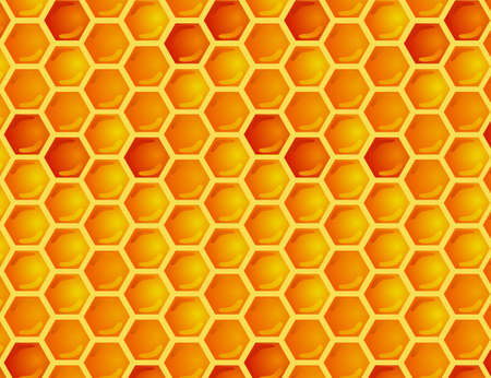 Seamless pattern honey comb Vector