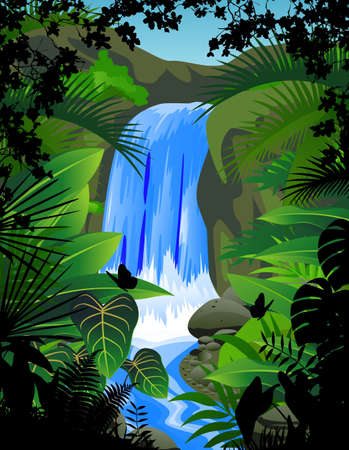 amazon forest: Waterfall