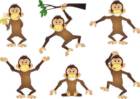 Funny Chimpanzee Stock Vector - 12152484