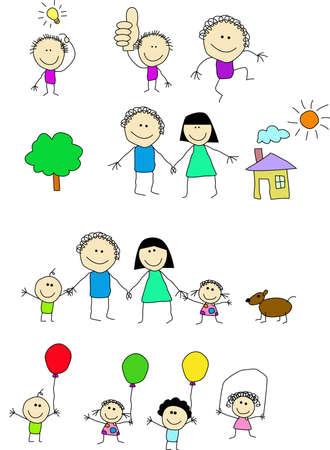 perro familia: La gente feliz