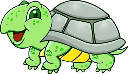cartoon tier: Turtle Karikatur Illustration