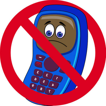 no cell phone: mobile phone forbidden