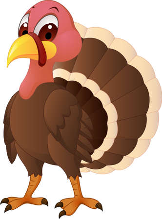 seasonable: Turkey Carttoon Illustration