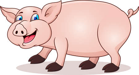 oink: Pig cartoon