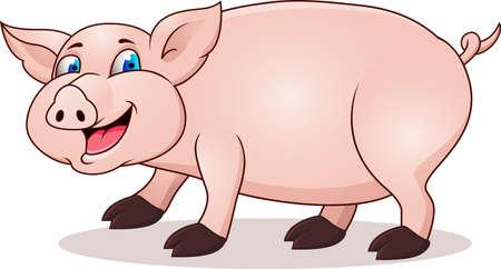 farmyard: Pig cartoon