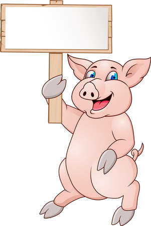 sow: Pig with blank sign