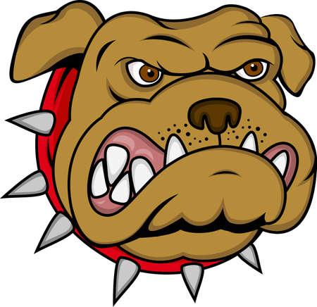 perro furioso: Perro de dibujos animados enojado Vectores