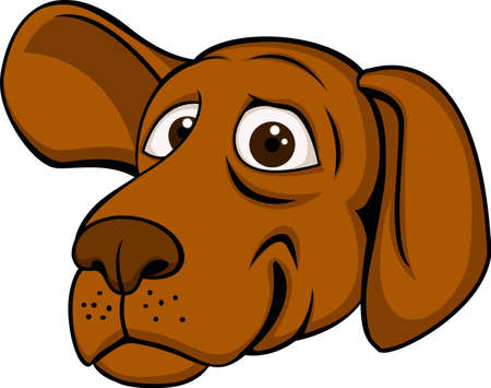 Gog Head Cartoon Vector