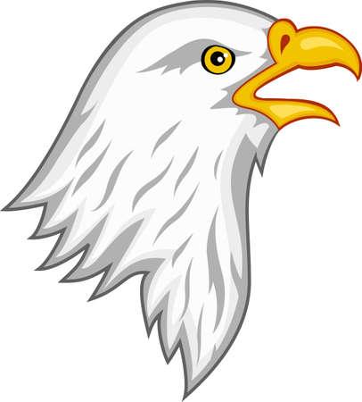 Ilustración De Una Cabeza De Águilas En Perfil. Ilustraciones ...