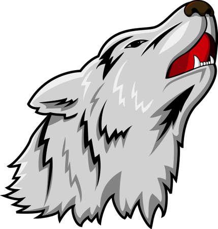 angry dog: Wolf