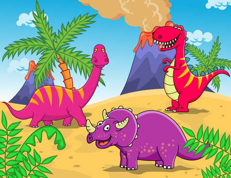 plants species: Dinosaur Cartoon