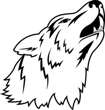 wolf: Wolf tattoo Illustration