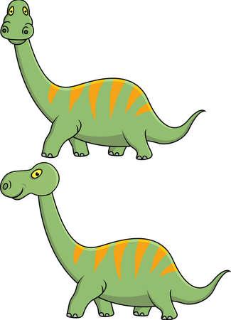 dinosaurio caricatura: Dinosaurio de dibujos animados Vectores