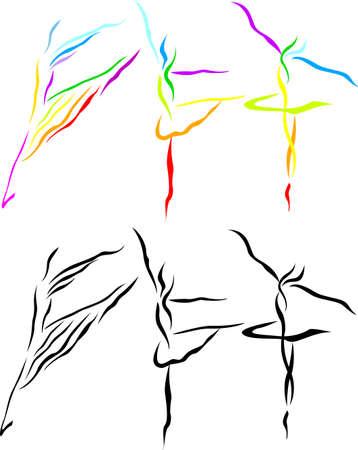 hand movements: Ballet art silhouette