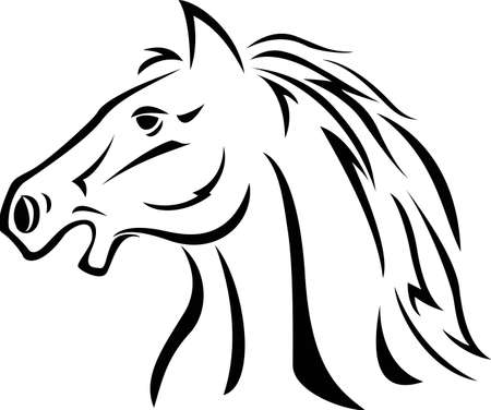 Horse tattoo Stock Vector - 12150910