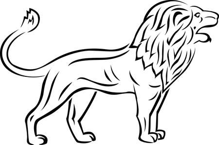 stalking: Lion tattoo Illustration