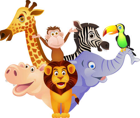 animales safari: Historieta animal