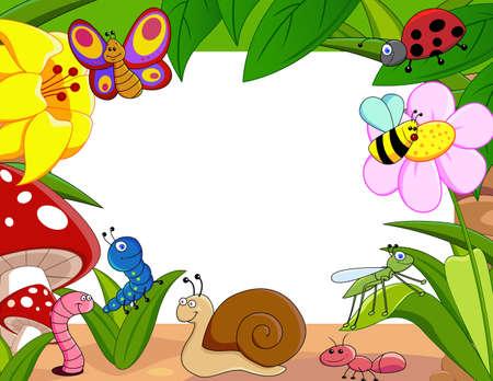 hormiga hoja: dibujos de animales pequeños Foto de archivo