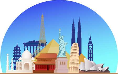Vector illustration of travel destination illustration