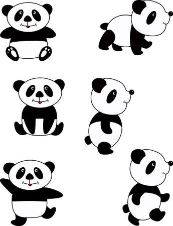Panda cartoon photo