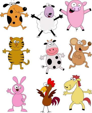 babyish animal: Farm Animal Catoon Stock Photo
