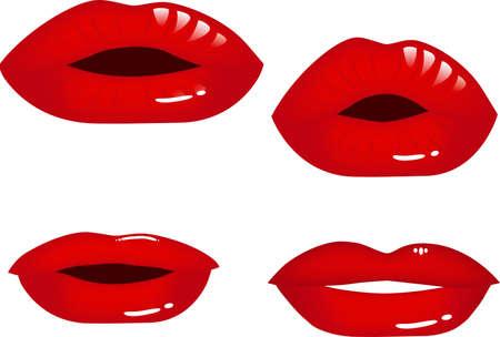 smooch: Lips  Stock Photo